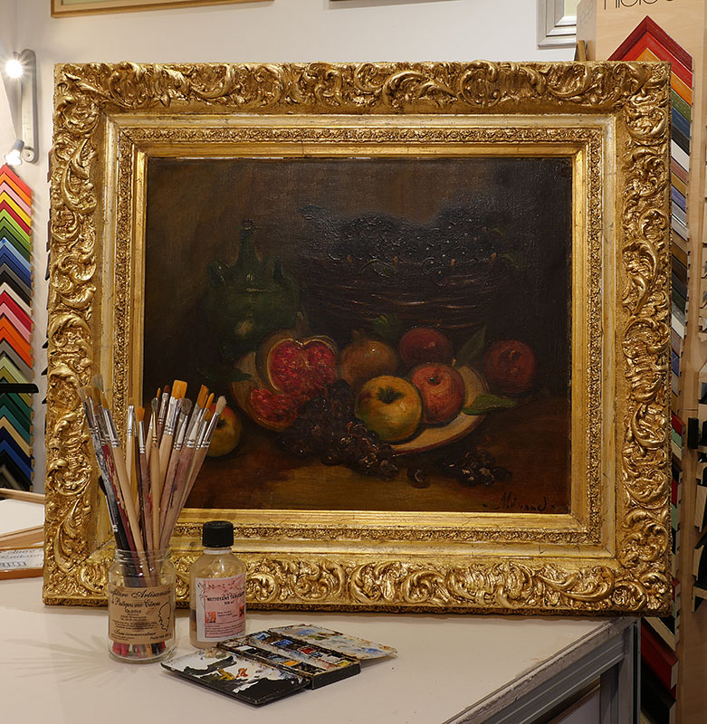 Restauration de toiles oeuvres atelier