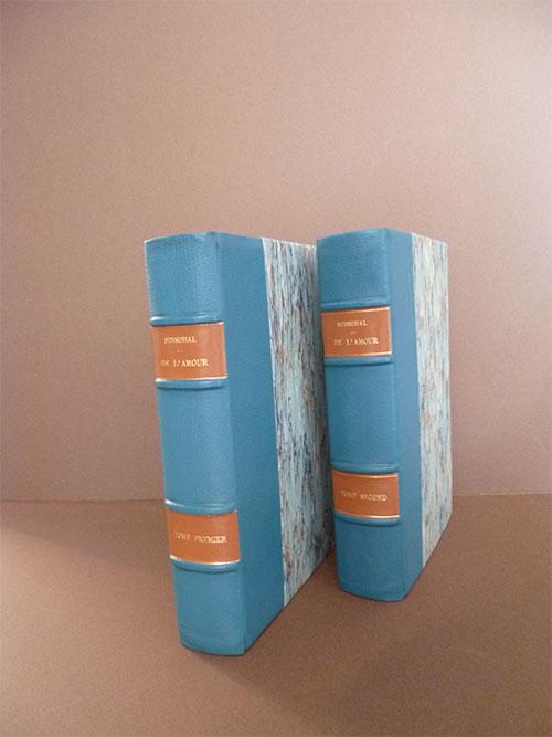 Livre bleu après restauration