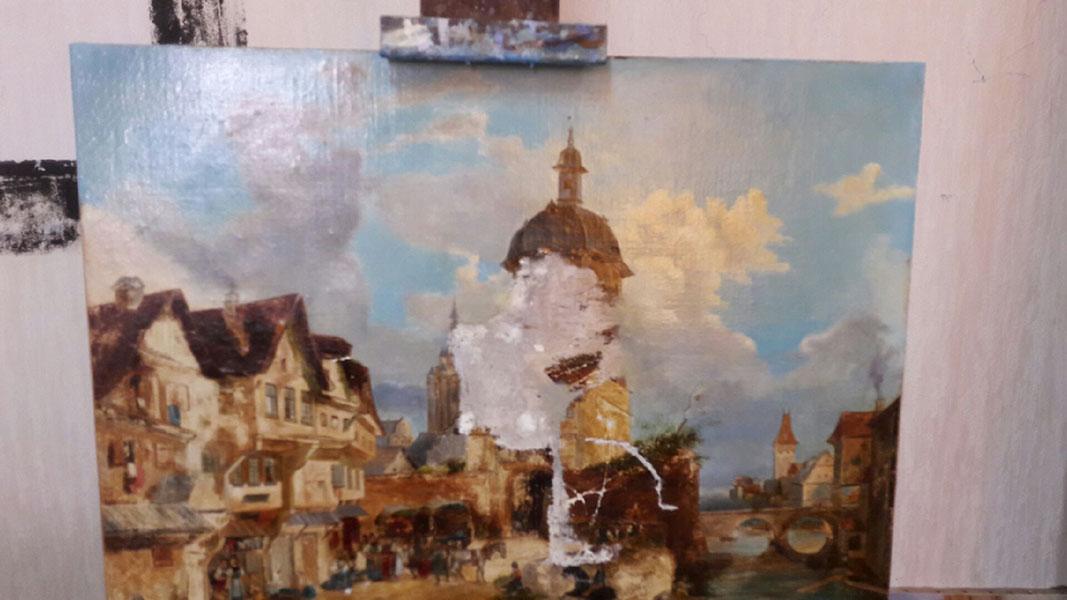 Tableau hollandais initial déchiré
